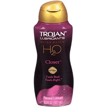 Trojan H2O Water-Based Lubricant - Closer