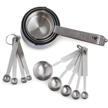 Paderno Stainless Steel Measuring Cups and Spoons