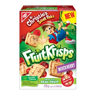 Christie Fruit Krisps Snacks — Mixed Berry