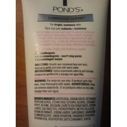 Ponds Luminous Clean Cream Cleanser