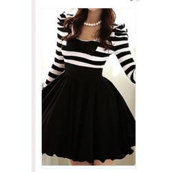 Striped Retro Swing Dress
