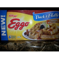 Eggo Thick and Fluffy Belgian Waffles Brown Sugar and Cinnamon