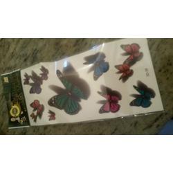 Born Pretty Store 3D Butterfly Tattoo