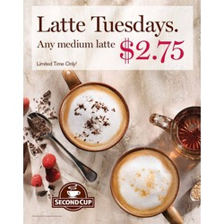 Second Cup Coffee Co. Dark Chocolate Raspberry Latte