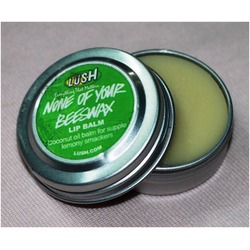 Lush None Of Your Beeswax Lip Balm