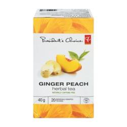 President's Choice Peach Ginger Herbal tea