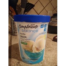 Our Compliments frozen Greek yogurt Vanilla
