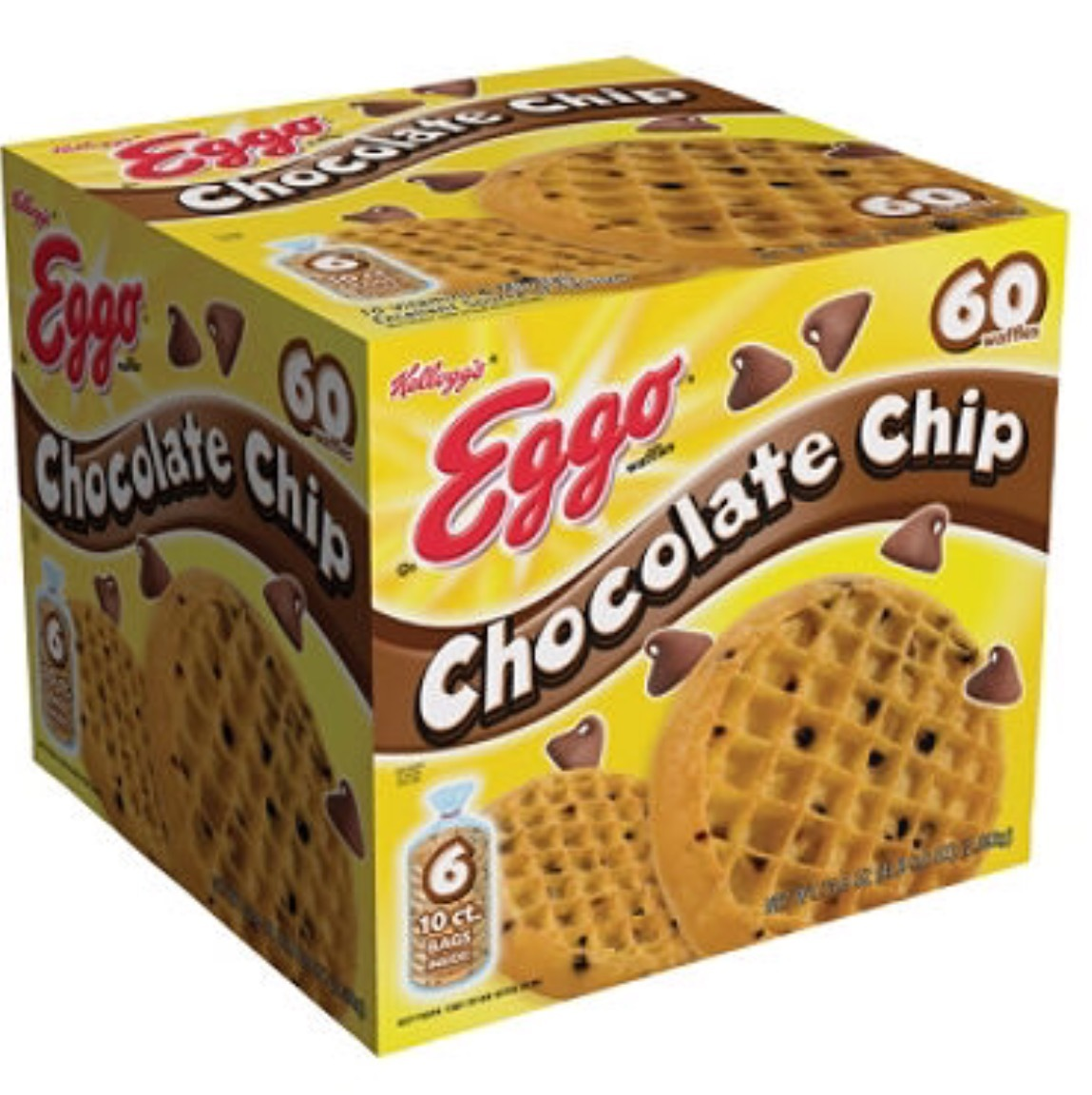 Kellogg's Eggo Chocolate Chip Waffles Reviews In Cereal