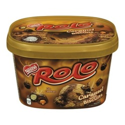 Nestle Rolo Ice Cream Caramel with Biscuits