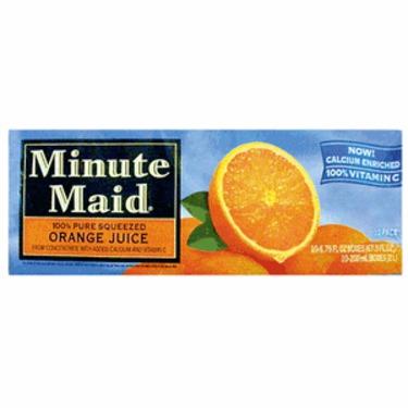 Minute Maid Orange Juice Juice Boxes