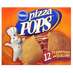 Pillsbury Pizza Pops, pepperoni and bacon