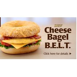 Tim Hortons Cheese Bagel B.E.L.T.