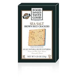 Food Should Taste Good Sea Salt Brown Rice Crackers