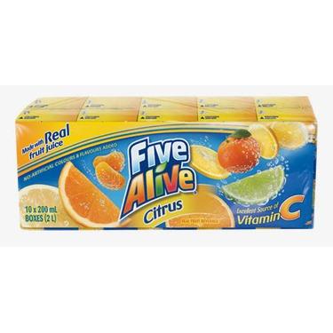 Five Alive Citrus Juice Boxes