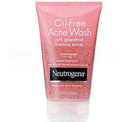 Neutrogena Oil-Free Acne Wash Foaming Scrub Pink Grapefruit