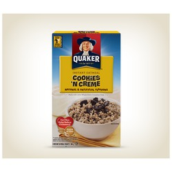 Quaker Instant Oatmeal Cookies 'n Creme