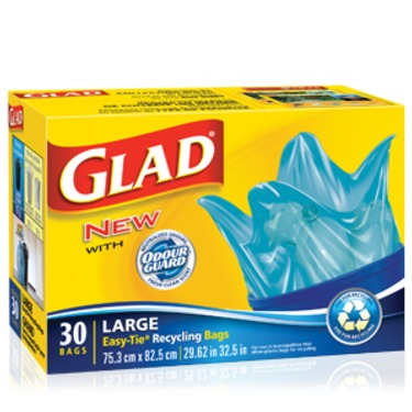 Glad Large Easy-Tie Recycling Bags