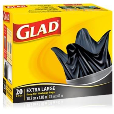 Glad Extra Large Easy-Tie Garbage Bags