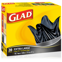Glad Extra Large Easy-Tie Garbage Bags