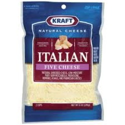 Kraft Natural Cheese Italian Five Cheese Shredded Cheese
