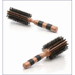 Scunci Wood Round Boar-Bristle Brush