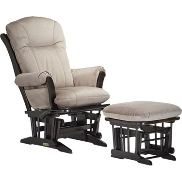 Dutailier Wood Glider and Ottoman