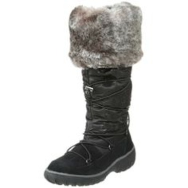 Cougar Tammy Faux Fur Suede Winter Boots Black