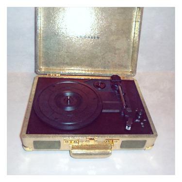 Crosley Gold Leatherette Turntable