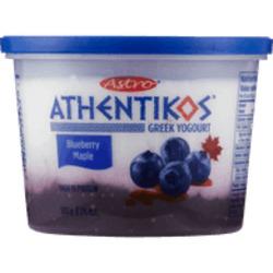 Astro Athentikos Greek Yogurt Blueberry Maple