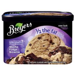 Breyer's Mocha Fudge Brownie Half Fat Ice Cream