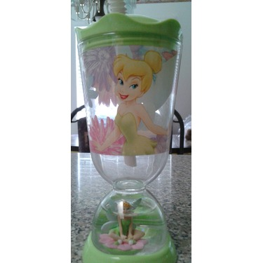 Disney Tinkerbell sipping bottle with snow globe