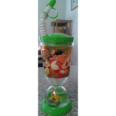 Lion King sipping bottle with snow globe