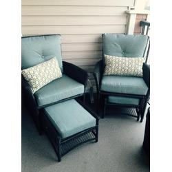 Hampton Bay (Home Depot) 5 Piece Resin Wicker Patio Conversation Set