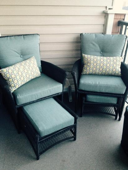 Lovely Hampton Bay (Home Depot) 5 Piece Resin Wicker Patio Conversation Set Image  Gallery