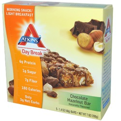 Atkins, Day Break, Morning Snack / Light BreakfastChocolate Hazelnut Bar
