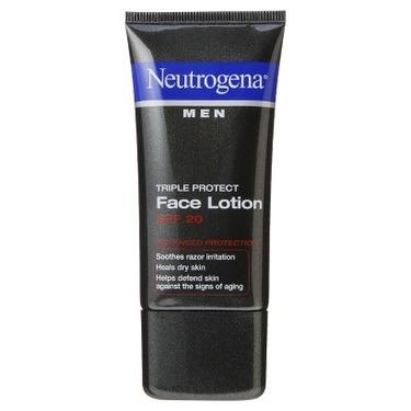 Neutrogena Men triple protect face lotion SPF20