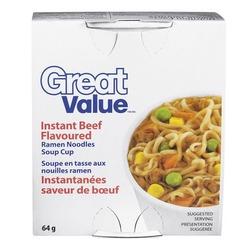 Great Value Instant Flavoured Ramen Noodles Soup Cup
