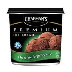 Chapman's Premium Ice Cream Chocolate Fudge Brownie
