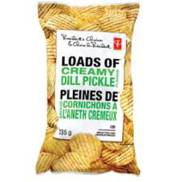 President's Choice Loads of Creamy Dill Pickle Chips