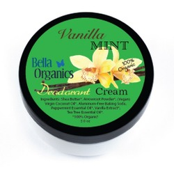 Bella Organics Deodorant Cream in Vanilla Mint