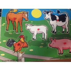 Mellisa & Doug picture under pieces farm animal puzzle