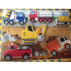 Mellisa & Doug Construction woody chunky puzzle