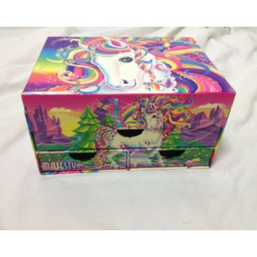 Lisa Frank Jewelry Box with Accessories