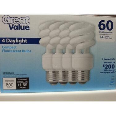 Great Value Fluorescent Bulbs