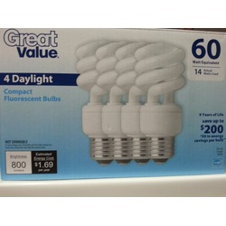 Great Value Fluorescent Bulbs