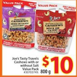Joe's Tasty Travel Cashews