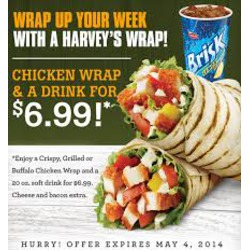 Harvey's Grilled Chicken Wraps