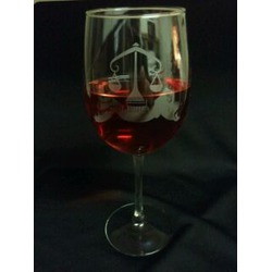 Astrological Sign Wine Glass