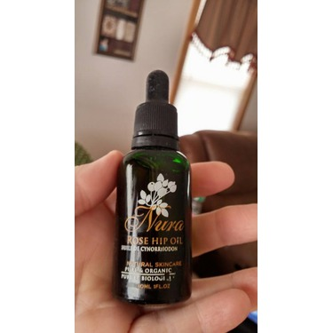 Nura Natural 100% Organic Cold Pressed Rosehip Seed Oil