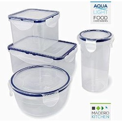 Aqua Light Food Containers by Madero Kitchen